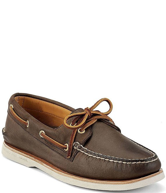 Sperry Men's Top-Sider Gold Authentic Original 2-Eye Boat Shoes