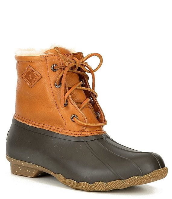 Color:Tan - Image 1 - Women's Saltwater Winter Lux Leather Winter Duck Boots