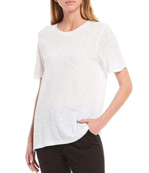 Color:White - Image 1 - Knit Crew Neck Top