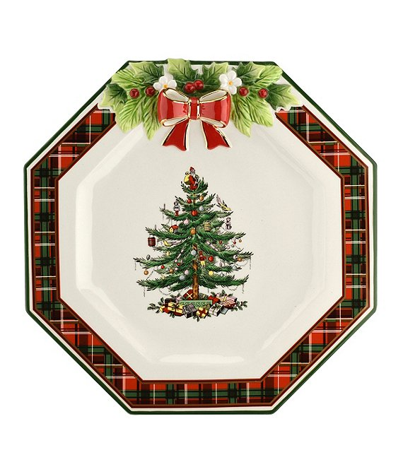 Spode Christmas Tree.Spode Christmas Tree 2019 Tartan Octagonal 11 Double Plate