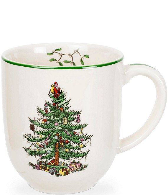 Coffee Christmas Tree.Spode Christmas Tree China 14 Oz Cafe Mug