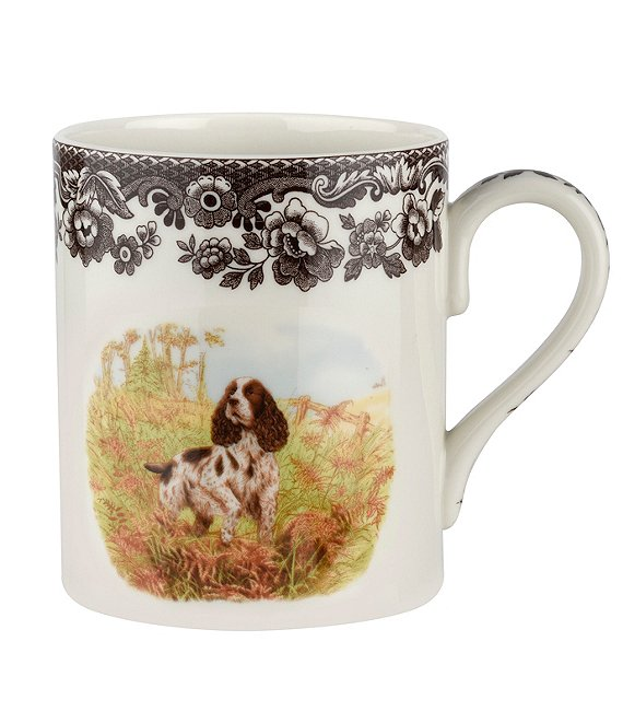Spode Festive Fall Collection Woodland Hunting Dogs Spaniel Mug