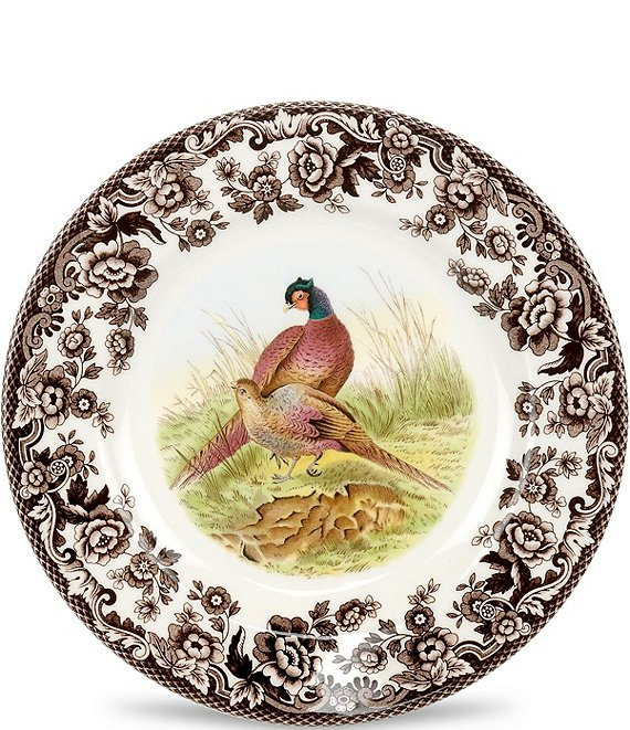 Spode Festive Fall Collection Woodland Pheasant Salad Plate