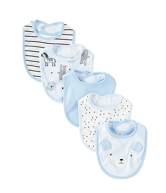 Starting Out Baby Boys 5-Pack Bear/Wildlife Bibs