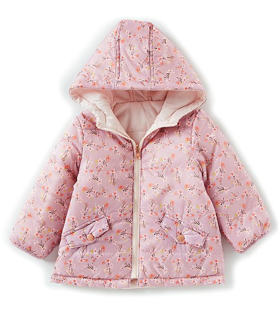 Starting Out Baby Girls 3-24 Months Reversible Printed Coat