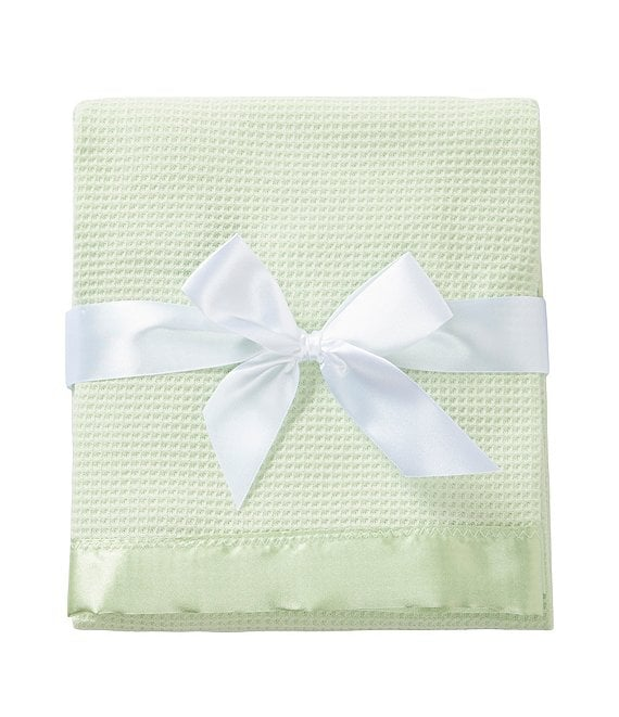Color:Mint - Image 1 - Baby Satin-Trim Blanket
