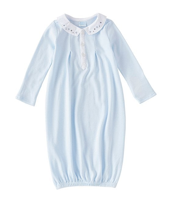 54361c209e Edgehill Collection Treasures Baby Newborn-6 Months Peter-Pan Collar  Stars-Embroidered Nightgown | Dillard's