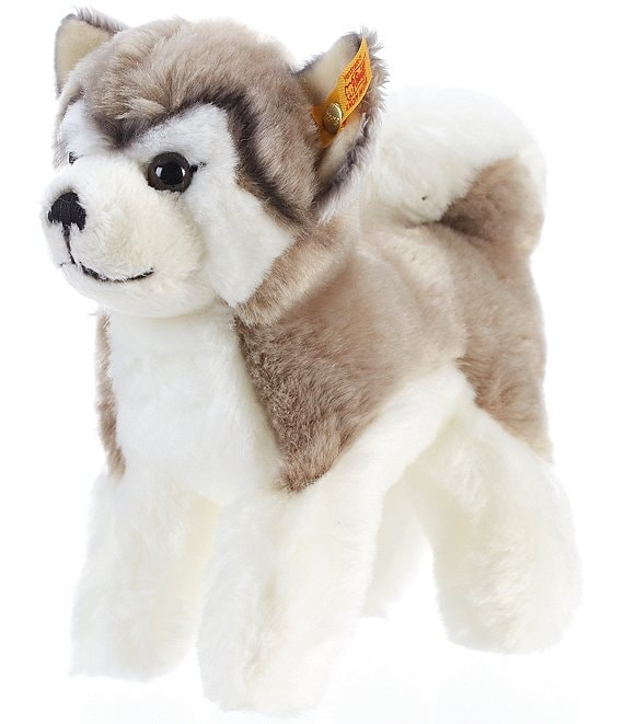 Color:Grey/White - Image 1 - Bernie Husky Plush - 6.6#double;