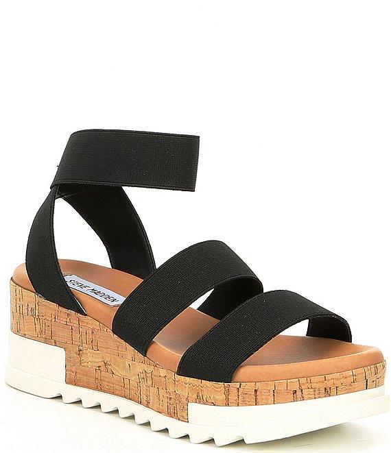 6edcc2ff0baf Steve Madden Bandi Elastic Cork Flatform Sandals