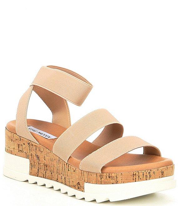 fe4d2b9687b Steve Madden Bandi Elastic Cork Flatform Sandals