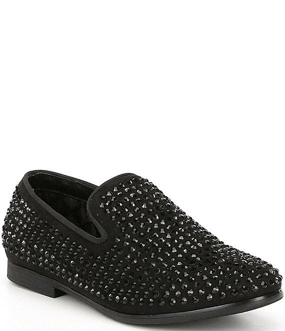 8a8a2cc8857 Steve Madden Boy s B-Caviar Rhinestone Studded Slip On Loafers ...