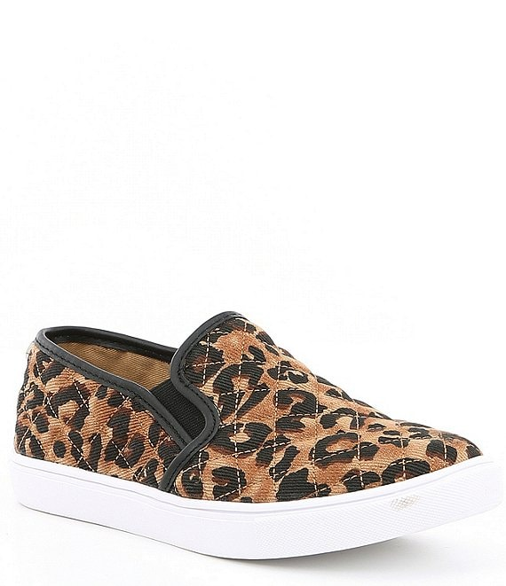 Steve Madden Ecentrcq Leopard Quilted Slip-On Sneakers