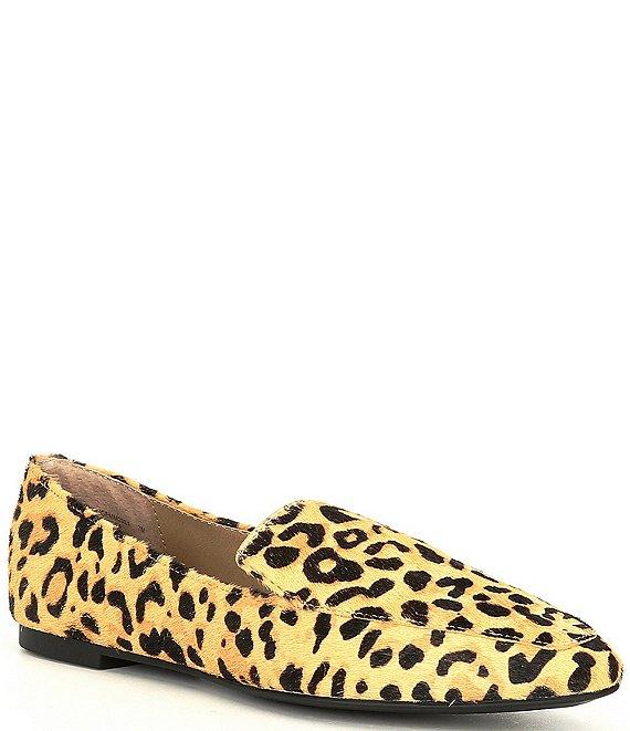 Color:Leopard - Image 1 - Gemmy-L Leopard Print Calf Hair Loafers