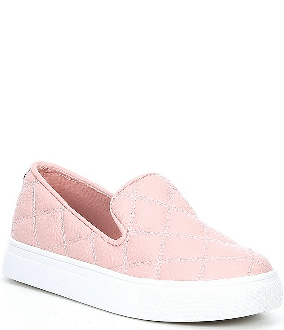 Color:Blush - Image 1 - Girls' J-Globe Quilted Sneakers (Youth)