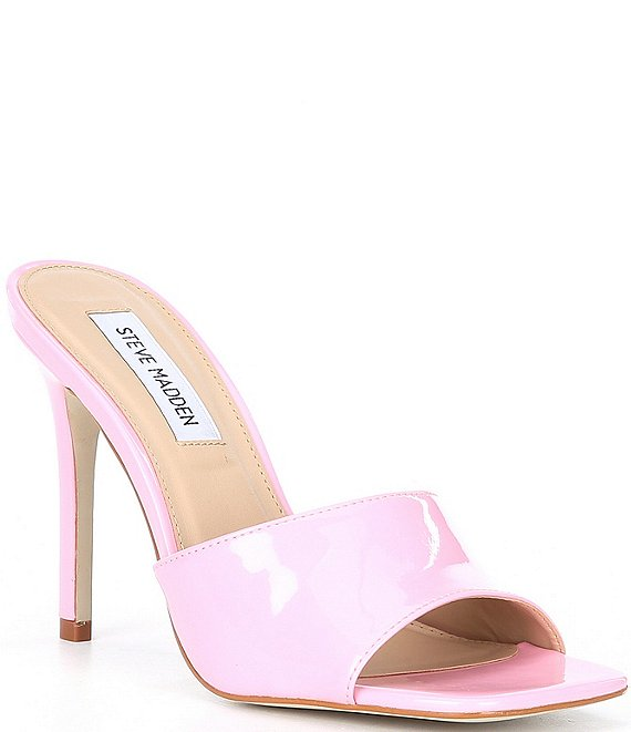 Color:Pink - Image 1 - Signal Patent Dress Mules