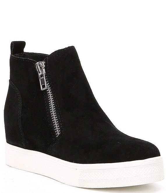 Color:Black Suede - Image 1 - Wedgie Suede Sneakers