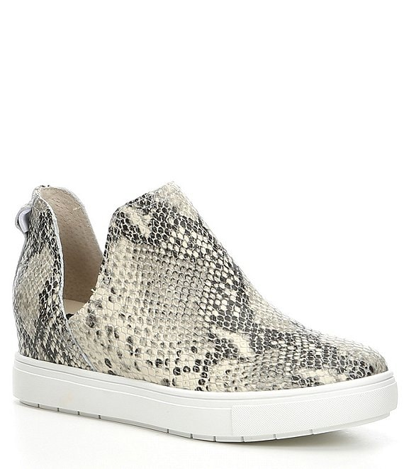 Color:White/Multi - Image 1 - Steven by Steve Madden Canares Snake-Print Leather Sneakers