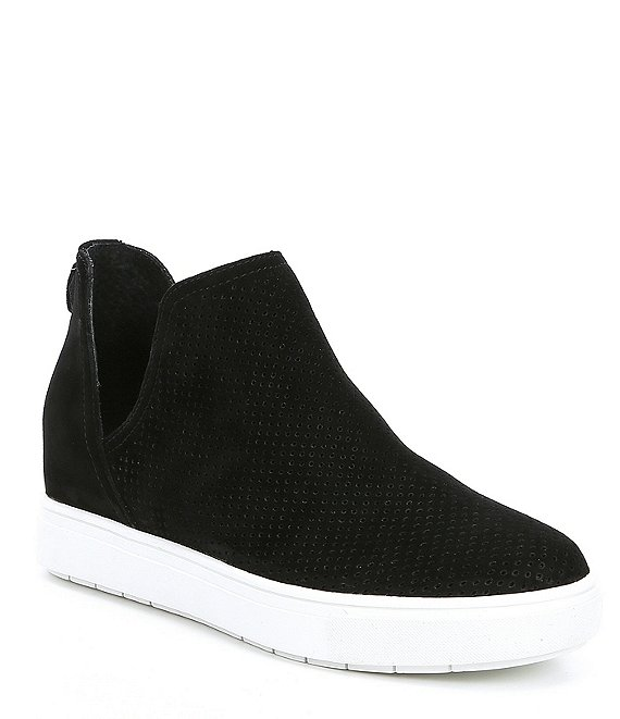 Color:Black Suede - Image 1 - Steven by Steve Madden Canaresp Suede Wedge Sneakers