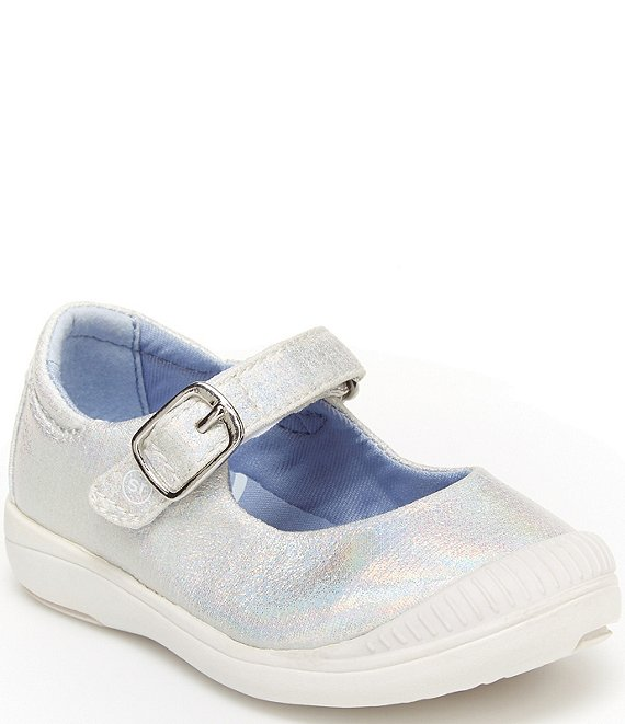 Color:White Iridescent - Image 1 - Girls' Reagan SRT Mary Janes (Youth)