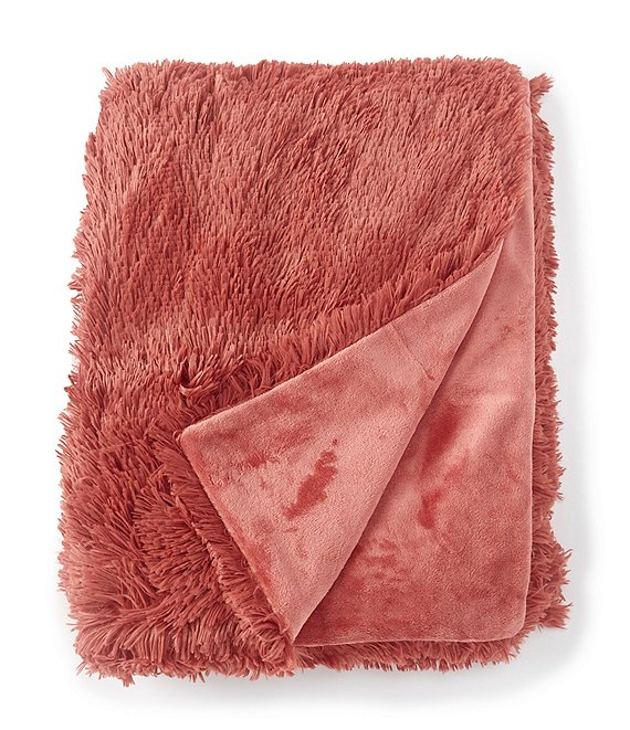 Color:Dusty Cedar - Image 1 - Shagalicious Lightweight Reversible Throw