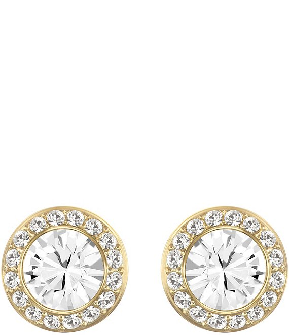 Color:Gold - Image 1 - Angelic Crystal Stud Pierced Earrings