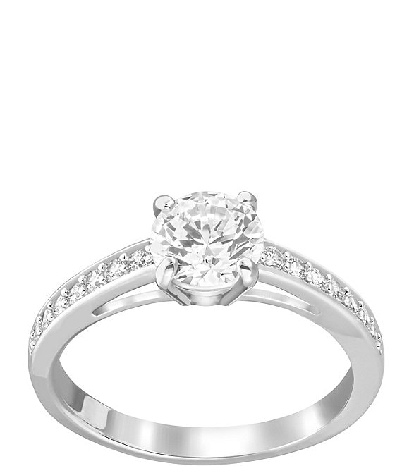 Color:Silver/Crystal - Image 1 - Attract Crystal Ring