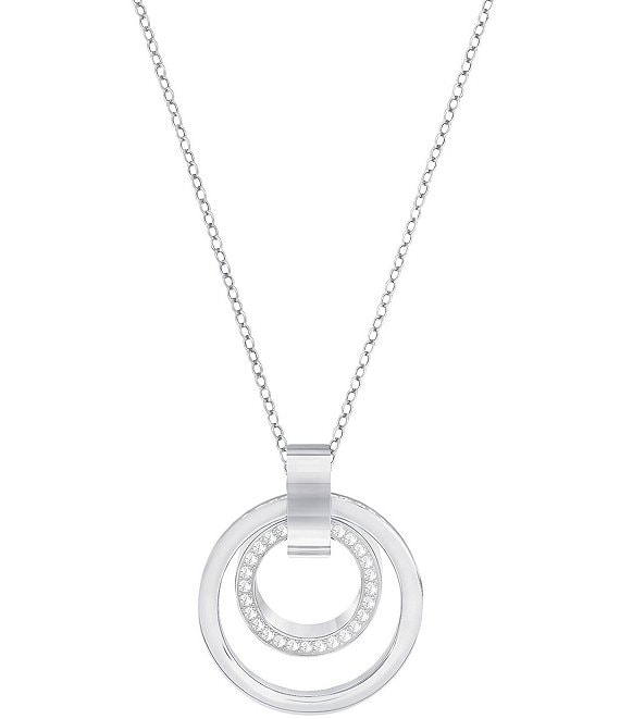 Color:Crystal - Image 1 - Hollow Pendant Necklace