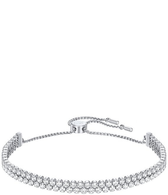 Color:Rhodium White - Image 1 - Subtle Double Bracelet