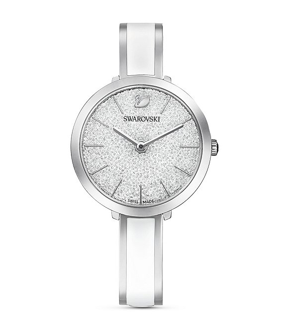 Color:White - Image 1 - White Crystalline Delight Watch