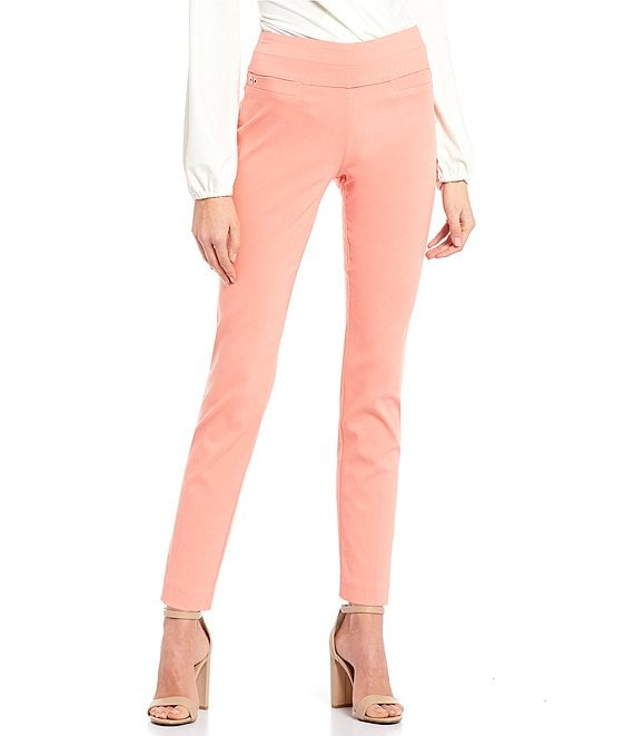Color:Burnt Coral - Image 1 - Skinny Ankle Pants