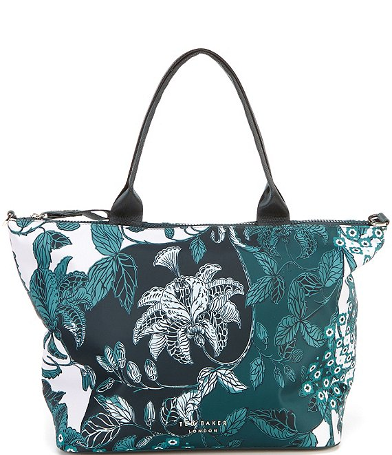Color:Turqouise - Image 1 - Rococo Turquoise Small Nylon Tote Bag