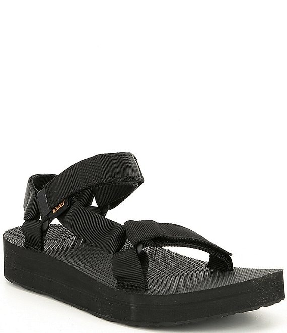 Color:Black - Image 1 - Wedge Midform Universal Sandals