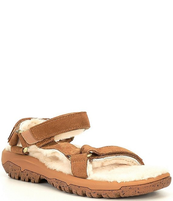 Color:Pecan - Image 1 - Women's Hurricane UGG® Shearling Banded Sandals