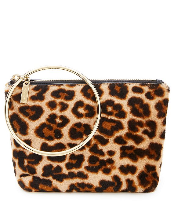 Thacker Leopard Print Medium Ring Handle Pouch