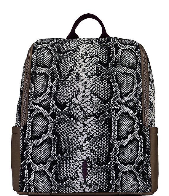 Color:Python - Image 1 - Maddy Snake Print Zippered Backpack