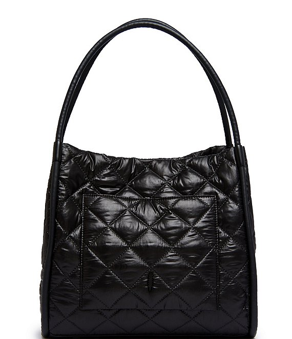 Color:Black - Image 1 - Terry Nylon Tote Bag