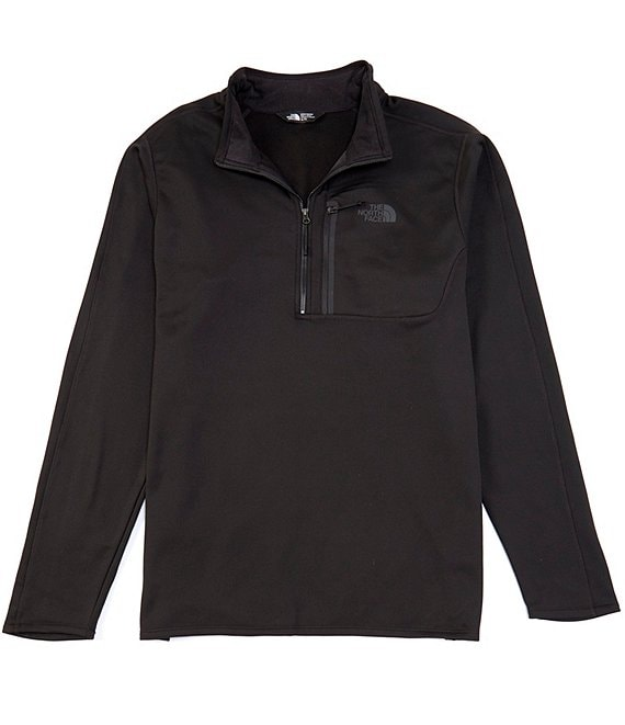 Color:TNF Black - Image 1 - Big & Tall Long-Sleeve Canyonlands Zip Pullover