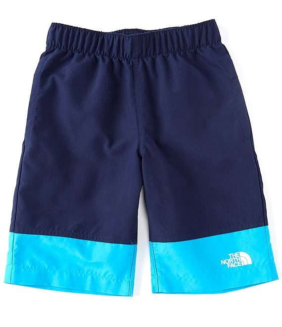Color:TNF Navy Bugging Out Phantom Print - Image 1 - Little/Big Boys 5-20 Colorblock Class V Water Shorts