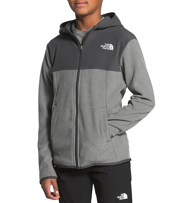 Color:TNF Medium Grey - Image 1 - Little/Big Boys 5-20 Glacier Full-Zip Hoodie