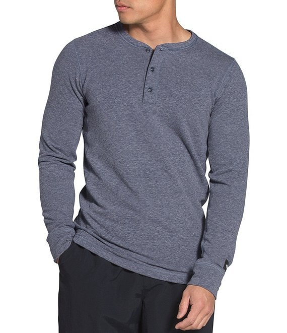 Color:Aviator Navy - Image 1 - Long-Sleeve TNF Terry Henley