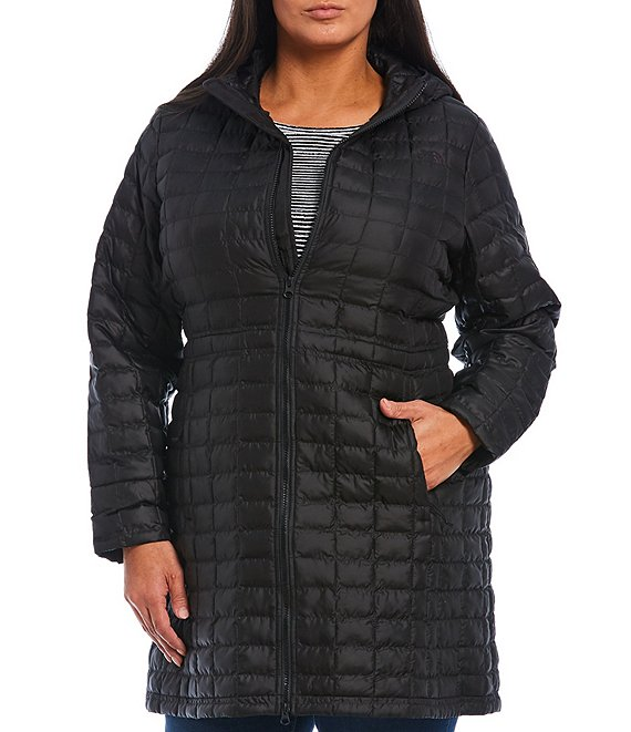 Color:TNF Black - Image 1 - Plus Size Thermoball Eco Parka with Hood