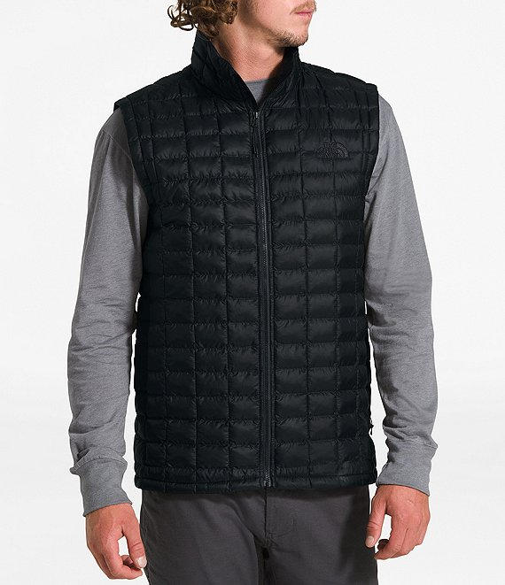 Color:TNF Black Matte - Image 1 - Slim Fit Matte Finish Packable ThermoBall™ Insulated Eco Vest