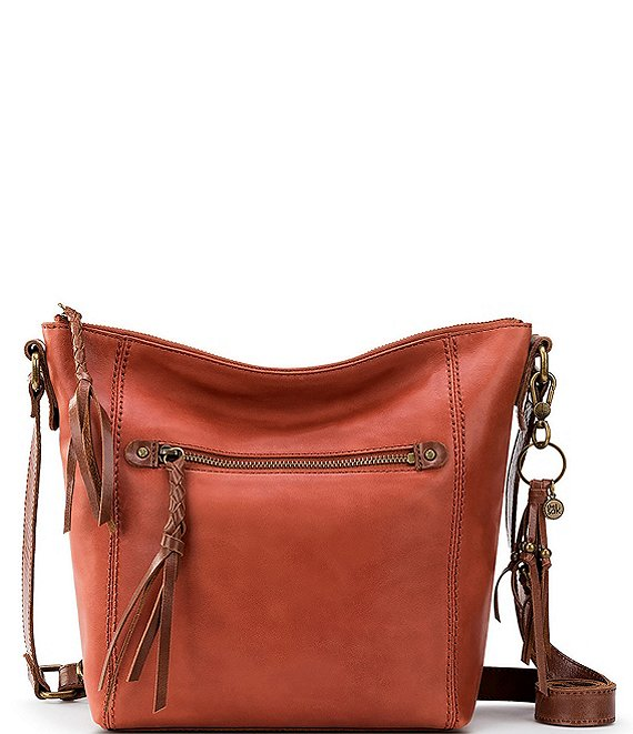 Color:Rust - Image 1 - Collective Ashland Zip Top Crossbody Bag