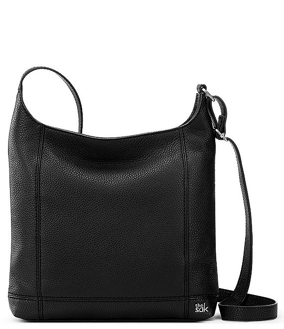 Color:Black - Image 1 - De Young Leather Crossbody Bag