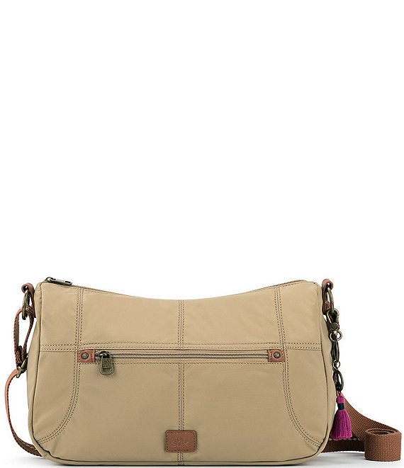 Color:Khaki - Image 1 - Esperato Nylon Hobo Bag