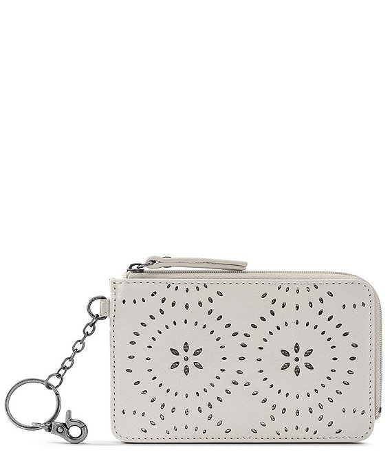 Color:Stone Mandala Perf - Image 1 - ID Floral Embossed Card Wallet