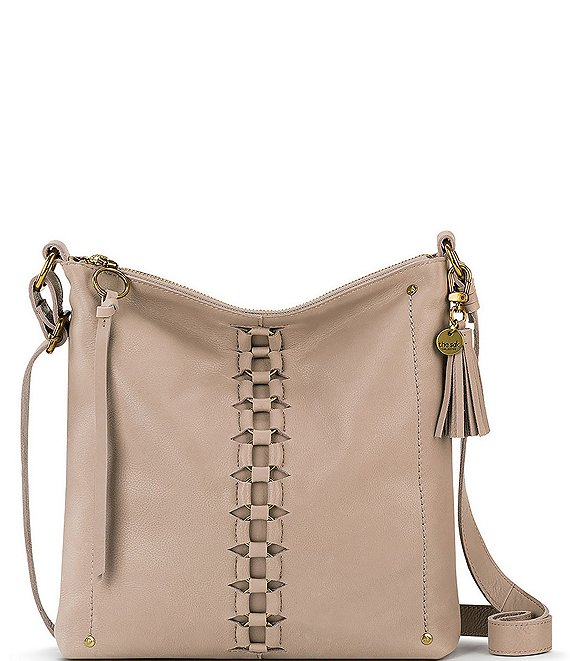 Color:Truffle - Image 1 - Ladera Ring Inset Crossbody Bag