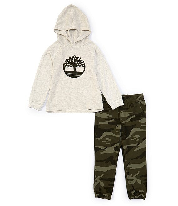 Color:Assorted - Image 1 - Little Boys 4-7 Thermal Hoodie & Camouflage Jogger Pant Set