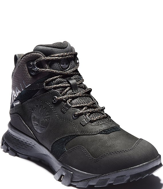Color:Jet Black - Image 1 - Men's Garrison Trail Waterproof Leather Mid Hiker Boots