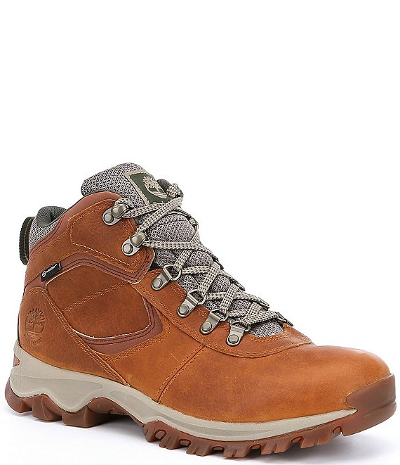 Color:Light Brown - Image 1 - Men's Mt. Maddsen Premium Leather Waterproof Mid Hiking Boots